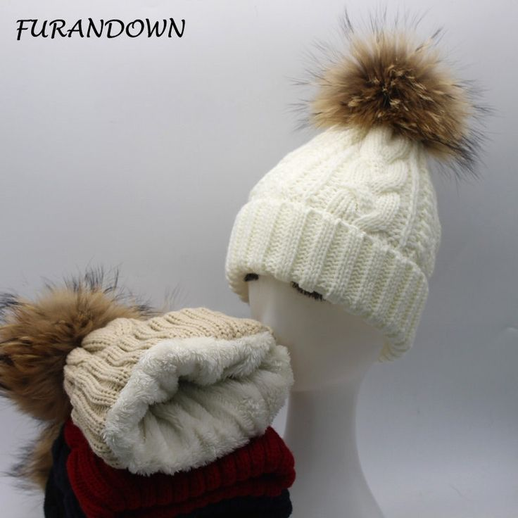 FURANDOWN 2017 New Womens Warm Fleece Inside Beanie Hats Winter Mink Raccoon Fur Pompom Hat Female Cap by zdzdbuy Item specifics Item Type: Skullies & Beanies Gender: Women Department Name: Adult Material: Acrylic Fur Style: Casual Brand Name: furandown Pattern Type: Geometric Model Number: A045 Material: fleece inside Item name: Skullies & Beanies Style: winter raccoon fur pompom hats Material: acrylic real raccoon fur fleece inside Size: adult size and kid size Fur ball size: 15 cm fur…