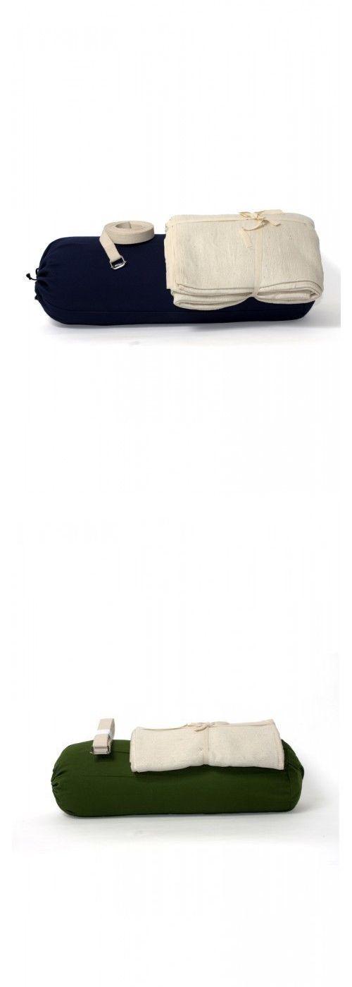Yoga Straps 148944: Iyengar Yoga Set (Bolster, Cushion And Belt) - India Shipping BUY IT NOW ONLY: $88.0