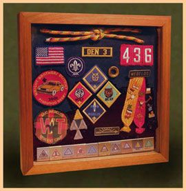 shadow boxes ideas   wood shadow boxes for cub scouts, boy scouts and eagle scouts