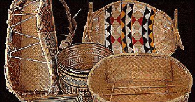 Trançados, fios   cheios de   fibr as .   Muitas comunidades se caracterizam pelo tipo de trançado utilizado nas cestarias, seja pela origem...