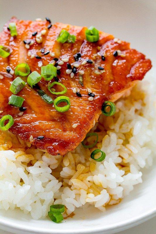 Easy Salmon Teriyaki Bowls | Recipe | Posts, Dads and Track