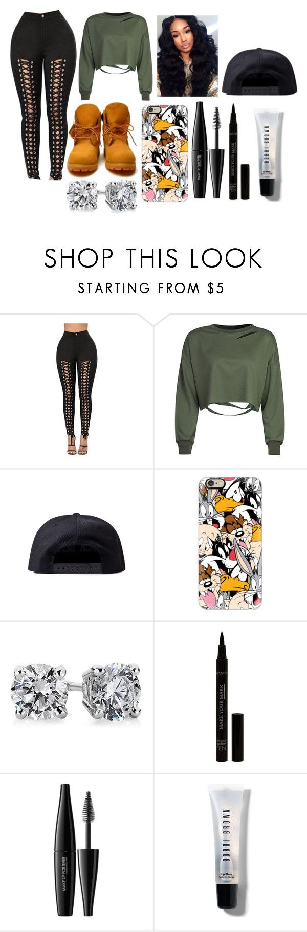 """""""Untitled #3494"""" by mecca-tiana ❤ liked on Polyvore featuring Black Scale, Timberland, Casetify, Blue Nile, MAKE UP FOR EVER and Bobbi Brown Cosmetics"""