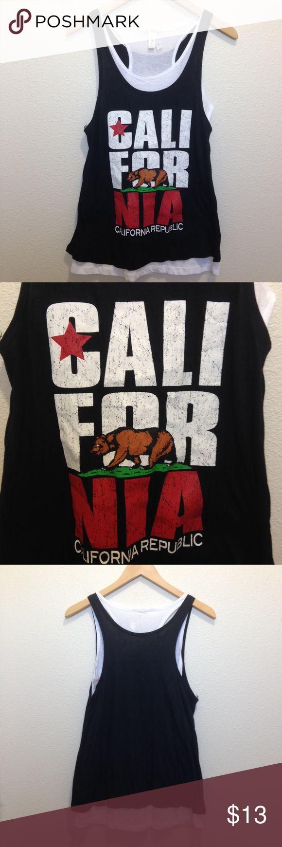 NWT Medium California halter top New with tags size medium women's California Republic flag halter top. Tops