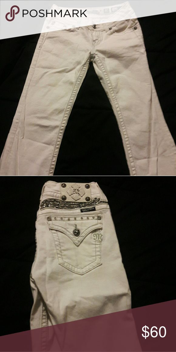 miss me jeans white miss mes size 28. ive only worn them one time. Miss Me Pants Boot Cut & Flare