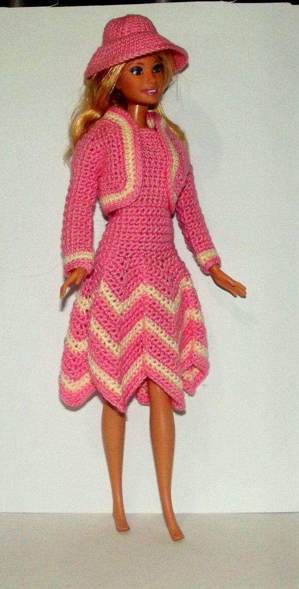 1324 besten Barbie Patterns Bilder auf Pinterest | Puppenkleider ...