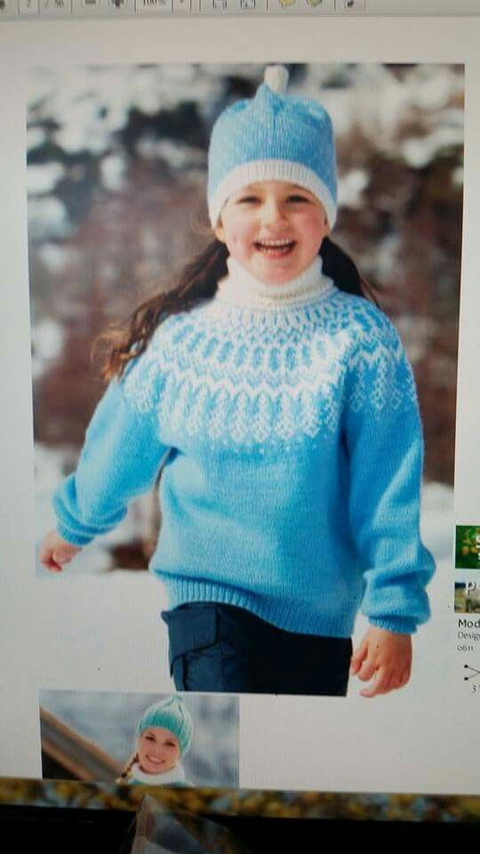 Modellen til Frost genseren som jeg har brukt