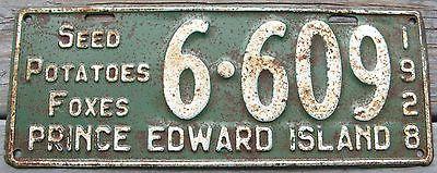1928 28 PRINCE EDWARD ISLAND PEI CANADA LICENSE PLATE NICE TAG SEED POTATO FOXES