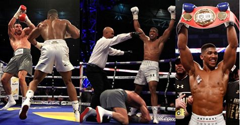 Nigerian Born British Boxer Anthony Joshua Knockout Wladimir Klitschko In The 11th Round, To Remain The Undefeated World Heavyweight…