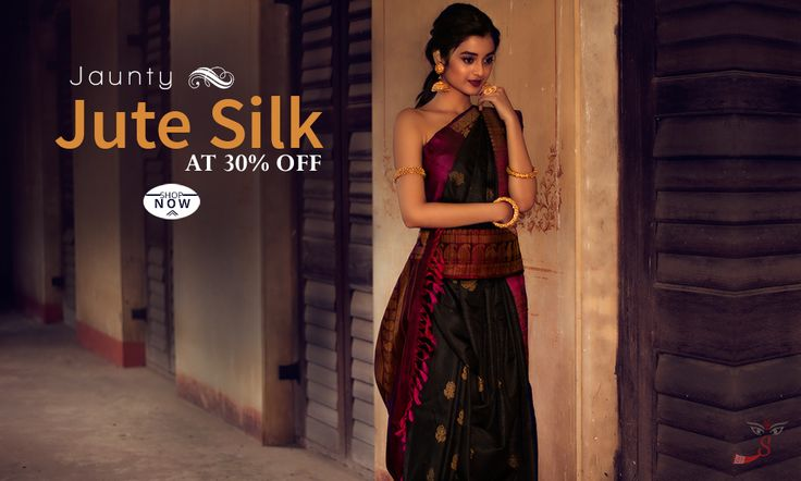 Ring in upcoming #festivalseason  in style with good looking #JuteSilksarees!
