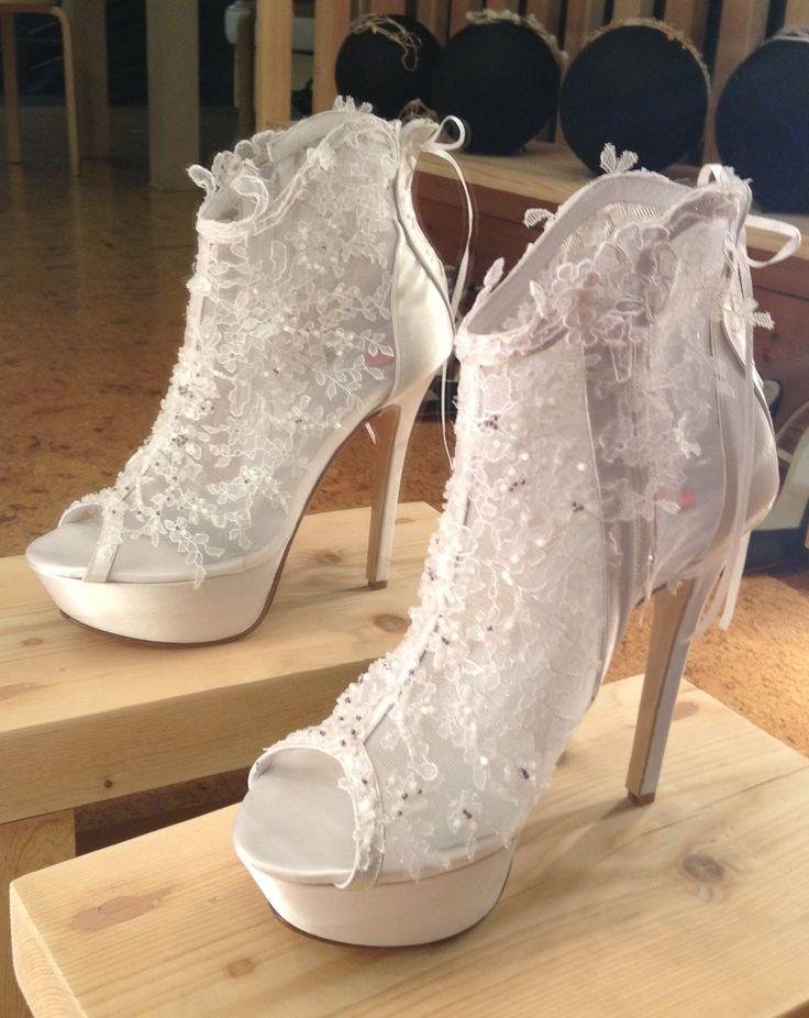 Handmade lace boot...