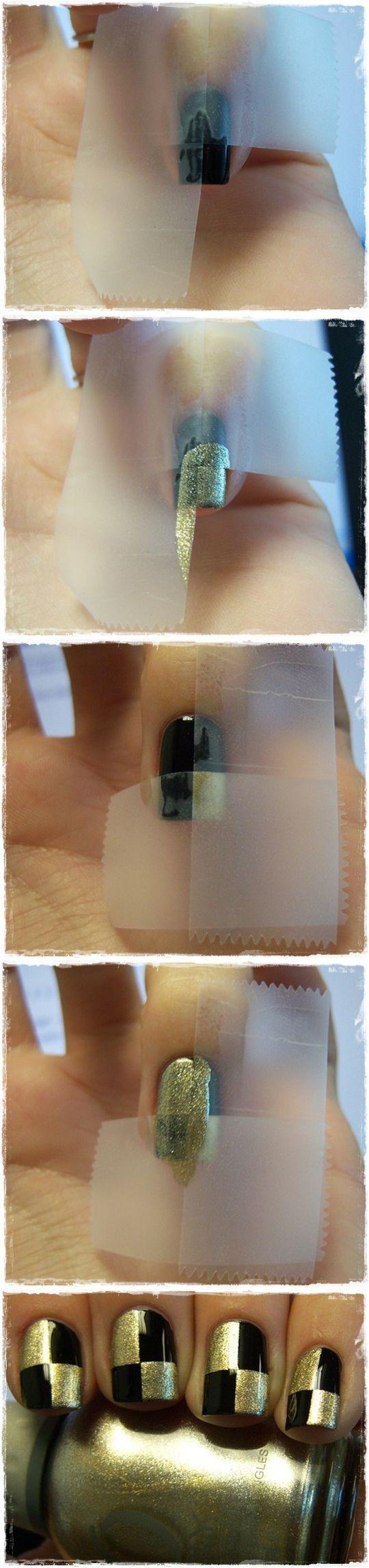 Chessboard alike nails