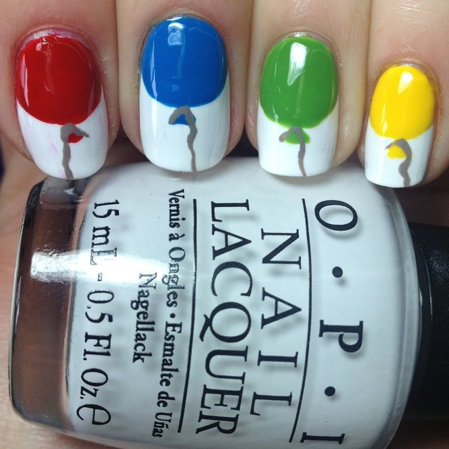 135 best nail art pictures images on pinterest candies enamels birthday ballon nail art 1g 640640 prinsesfo Choice Image