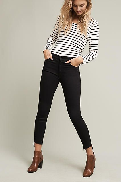 Mother Stunner High-Rise Ankle Step Jeans - anthropologie.com