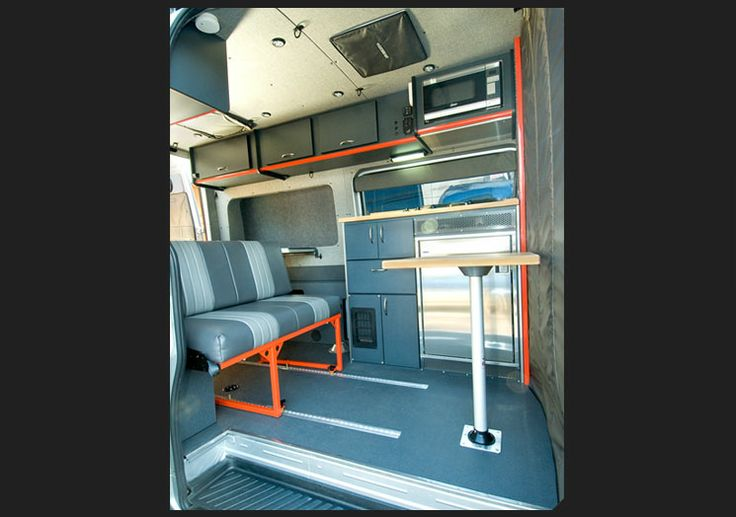 Bench Seat Welded On Tracks Mb Sprinter Camper Vans Bed