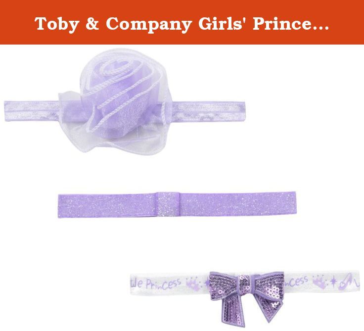 Toby & Company Girls' Princess 3 Piece Soft Headband Set, Purple (36), One Size. 3 piece soft headband coordinates set.