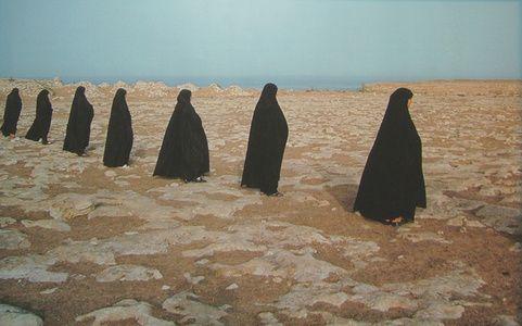 Shirin Neshat Rapture series (women in a line)