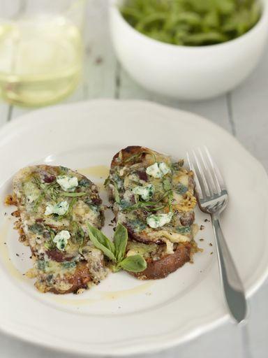 Recette Tartines aux magrets de canard séchés et roquefort