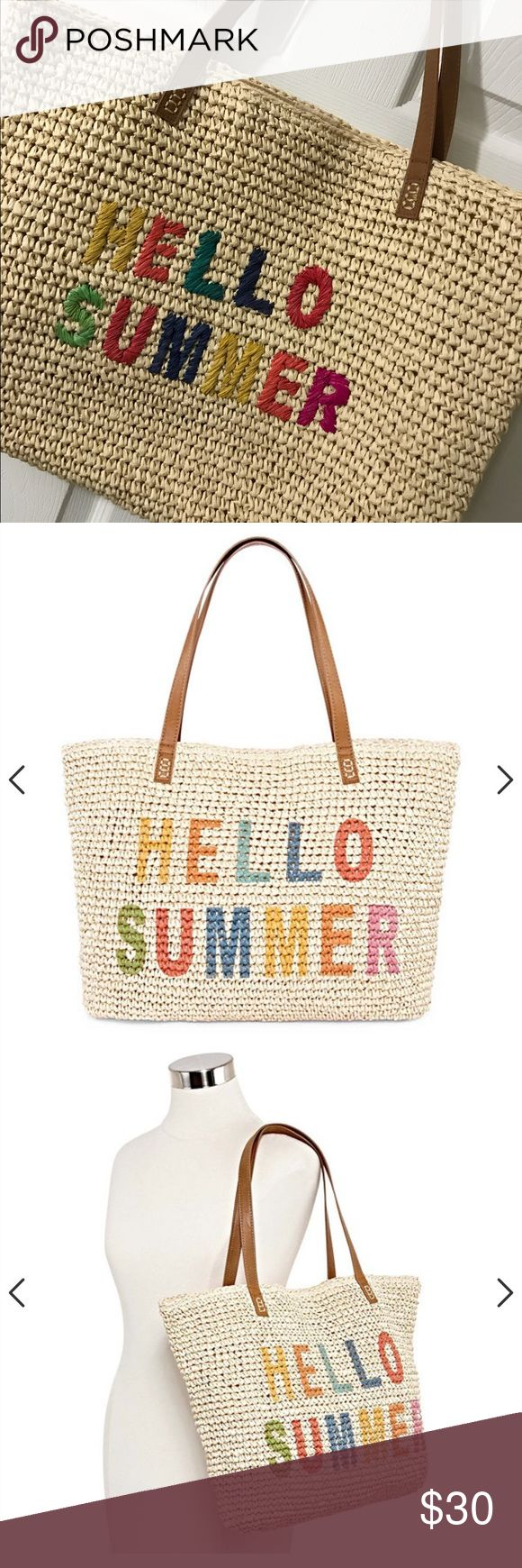 ⚡️Flash Sale⚡️Hello Summer Tote Bag Hello Summer Straw Tote Bag from JC Penney, New W/O Tags. ☀️🌴🌊 jcpenney Bags Totes