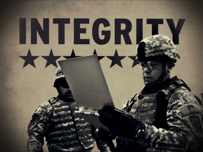 integrity army values essay The army values: loyalty, duty, respect, selfless service, honor, integrity, and personal courage what do they mean we go in depth to show you the truth.