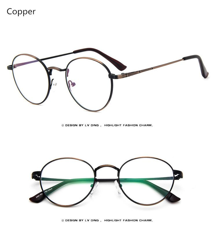 2017 High Quality Men/Women Retro Round Metal Eyeglasses Frames Korean Myopia Glasses Frame Harry Potter Optical Eyewear Like if you remember Visit our store