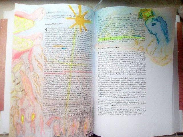 Bible Art Journaling beim grünen Wicht: Gemeinschaftsbibel #Reisebericht #Gemeinschaftsbibel Reisebericht bibleart-rp.blogspot.de https://www.facebook.com/groups/937951726222942/ #SCMverlag #dergrünewicht