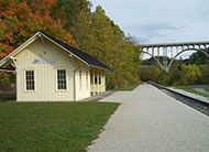 Cuyahoga Valley Scenic RailRoad, this stop is in Brecksville, Ohio