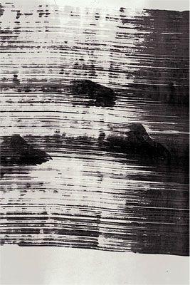 John Cage, Steps (detail) 1989 - aquarelle sur papier avec empreintes des pieds