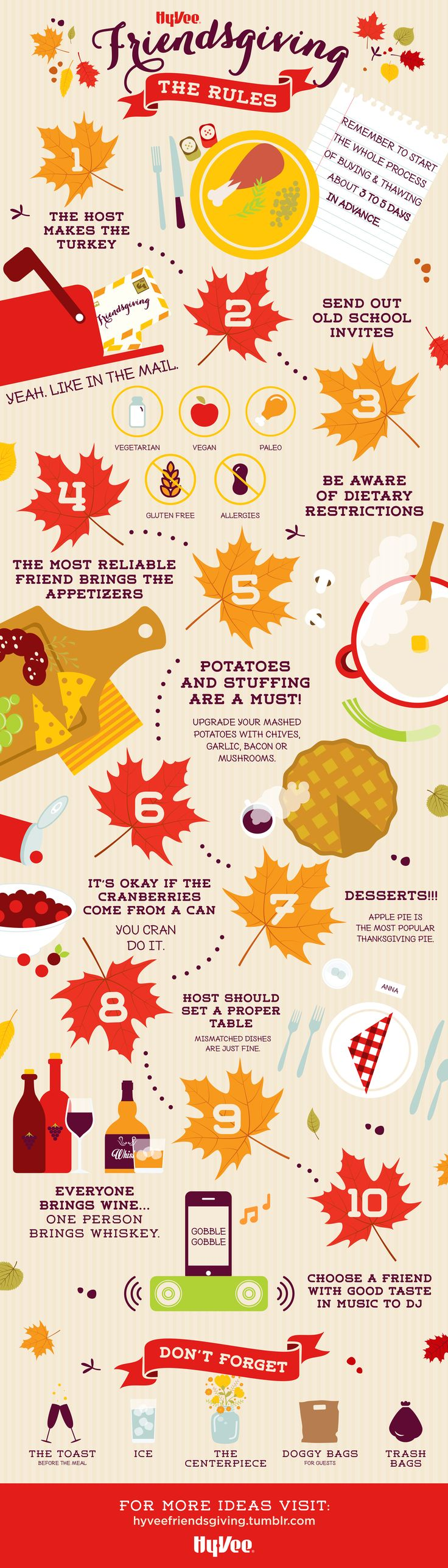 Follow these 10 rules for a perfect #Friendsgiving!