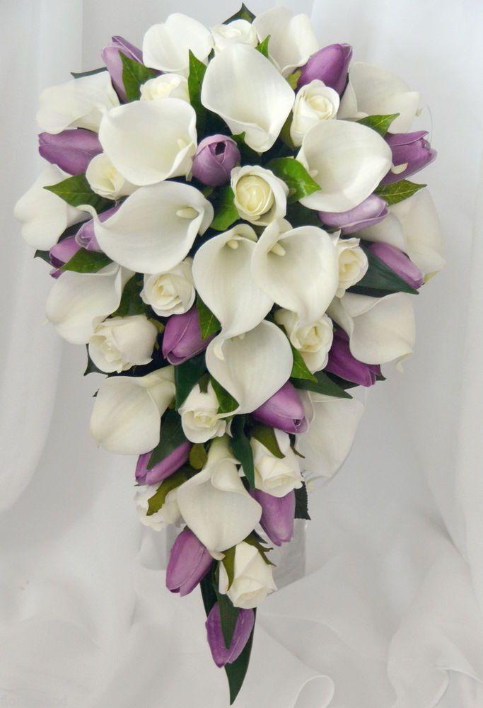 calla lily red tulip cascade bouquet - Google Search