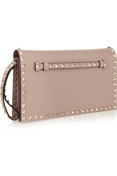 Valentino The rockstud leather clutch €1408.86 | NET-A-PORTER.COM