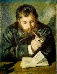 Ο ζωγράφος Κλοντ Μονέ διαβάζει  Πορτρέτο από τον Ρενουάρ (1874)