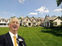 New Chicago Bears Coach John Fox Just Bought Home in Lake Forest for $3.275M from Bear Tom Waddle.