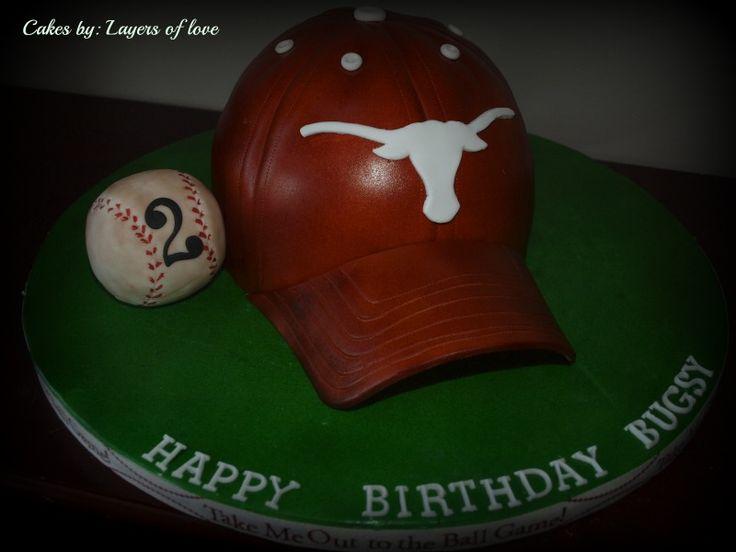 longhorn baseball cap cake layers love tn texas longhorns team hat official caps uk