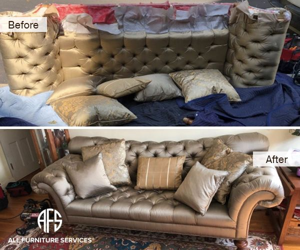 Chesterfield Tufted Sofa Disassembly Couch Dismantling Sleeper Break Down Tufted Chesterfield Sofa Tufted Sofa Furniture