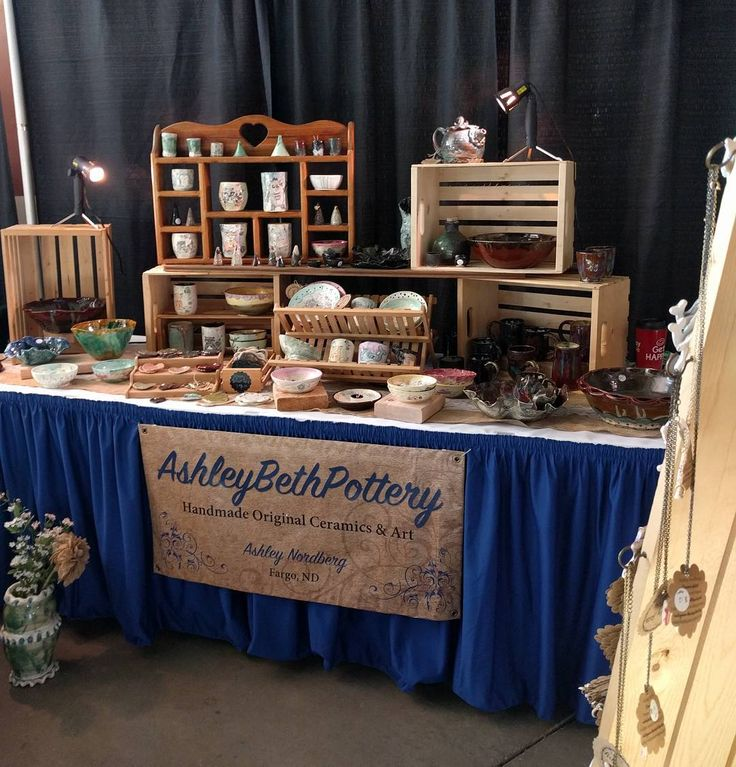 Ashley Beth Pottery, Booth Display! POD, Fargo, ND Nov 2016