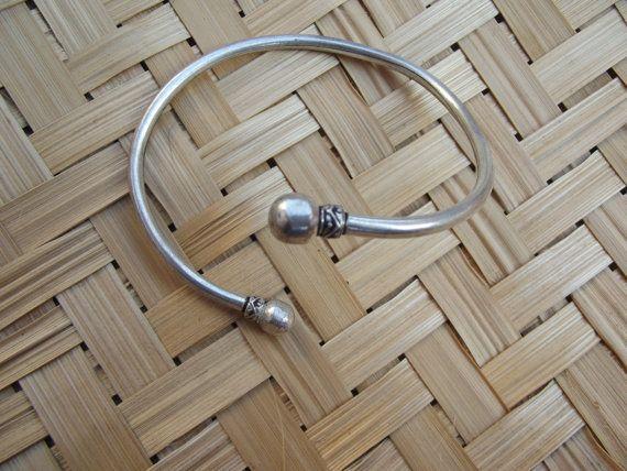 Argento argento braccialetto tribale di silveringjewelry su Etsy