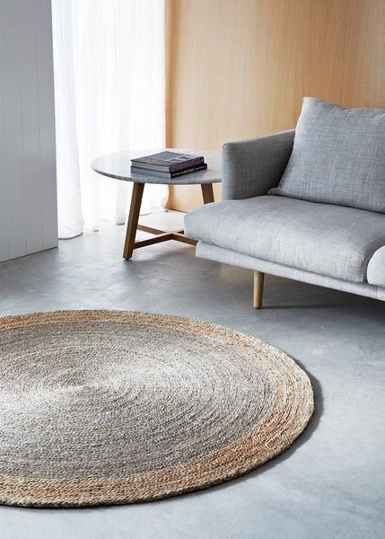Armadillo Decorator Rugs Earth Collection - Flower Weave - Zinnia - Natural Pewter