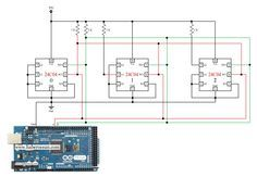 Circuit to Control Three 24C04 ICs through Single Bus System using Arduino Mega  Read more at:  http://www.haberocean.com/2014/12/circuit-to-control-three-24c04-ics-through-single-bus-system-using-arduino-mega-part-1-of-3/