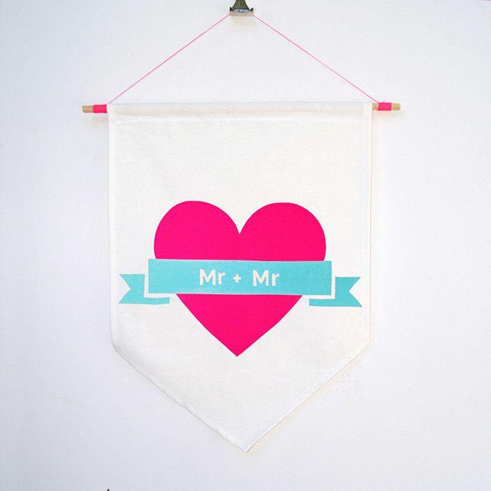 'Mr + Mr' Flag – Taylor + cloth handmade textiles + homewares