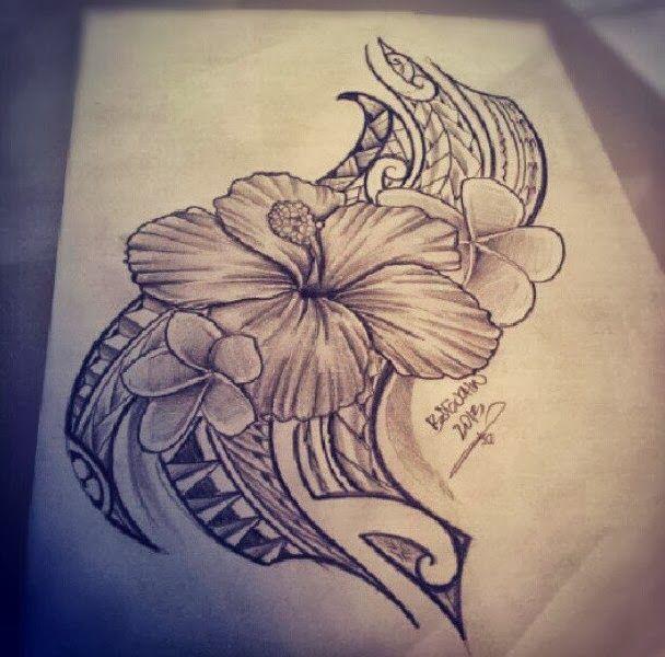 hibiscus hawaiian tribal tattoos designs...