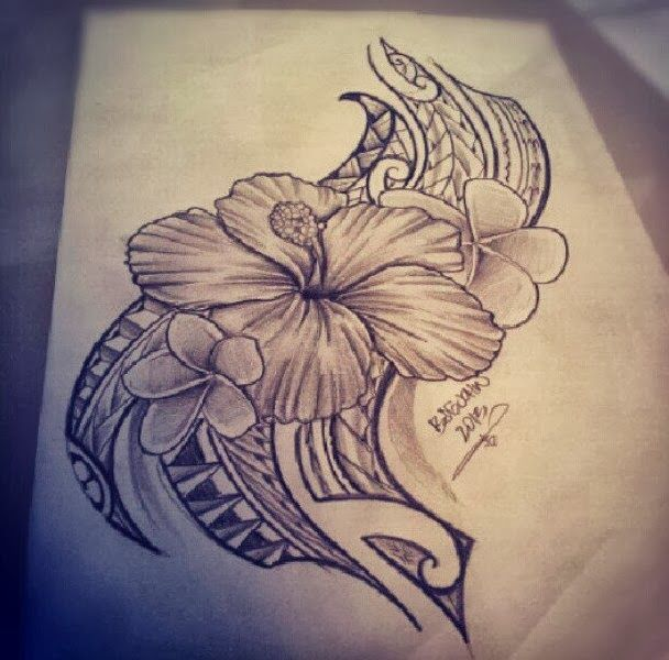 hibiscus hawaiian tribal tattoos designs...