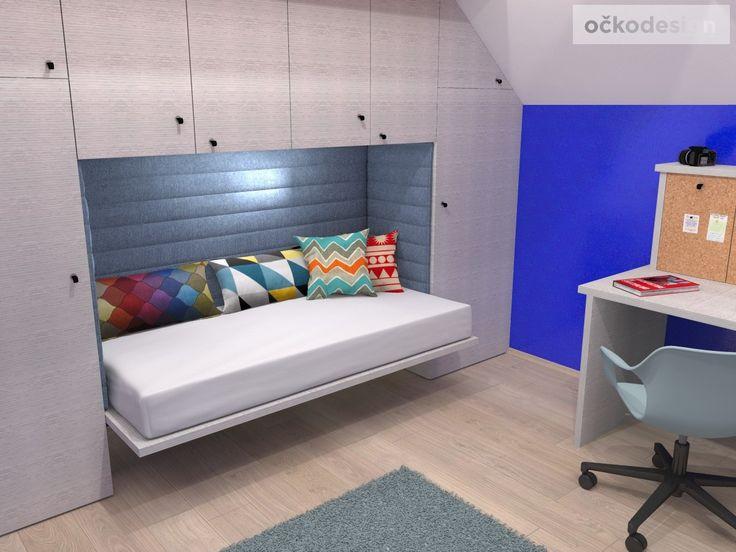c,designový studenstký pokoj, jan navrhnout dětský, Petr Molek designer, designové interiéry, moderní dům