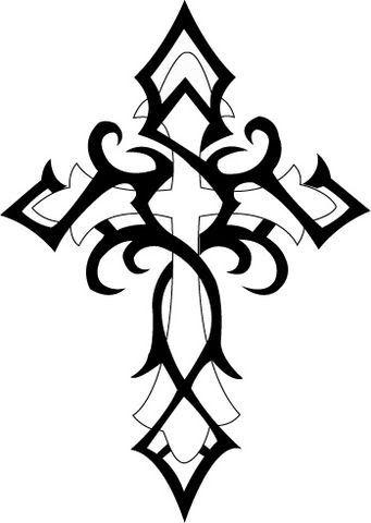 Tribal Cross Tattoo, my girlfriend has this tattoo!