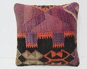 decorative pillow stripe pillow case purple kilim pillow novelty cushion bedroom pillow case primitive pillow case turkish pillow case 25771