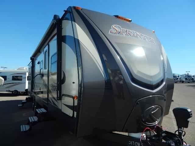 "2016 New Keystone Sprinter 313BHS Travel Trailer in Arizona AZ.Recreational Vehicle, rv, 2016 Keystone Sprinter313BHS, 15,000 BTU A/C, 40"" LED TV, Camping Made Easy Pkg, Correct Track, Decor- Peppercorn, Dream Mattress, Elec Stabilizer Jacks, Outdooor & More Kitchen, PAINTED CAP KEYSHIELD, Performance Insulation, Power Awning w/LED Lighting, RVIA Seal, Stainless Refer w/ Ice, Washer Dryer Prep,"