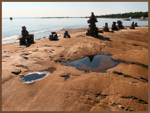 Beausoleil Canadian Shield beach bouclier canadien