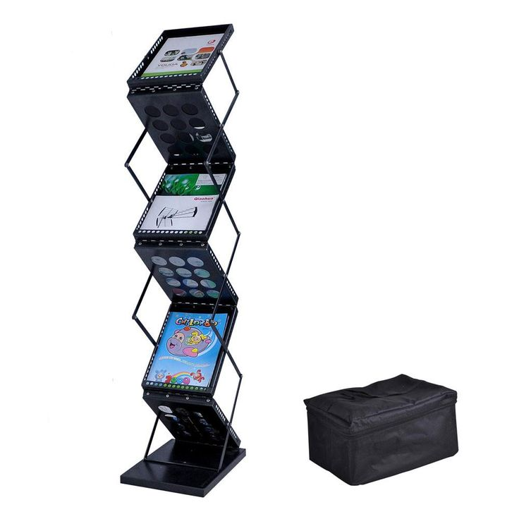 Collapsible Literature Stand Brochure Holder 6 Pocket