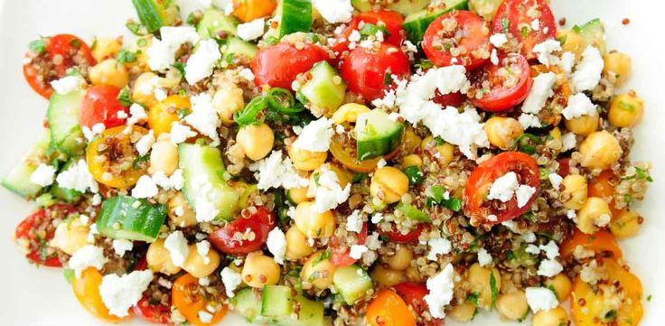 Quinoa, Chickpea, Cucumber and Feta Salad   W Network