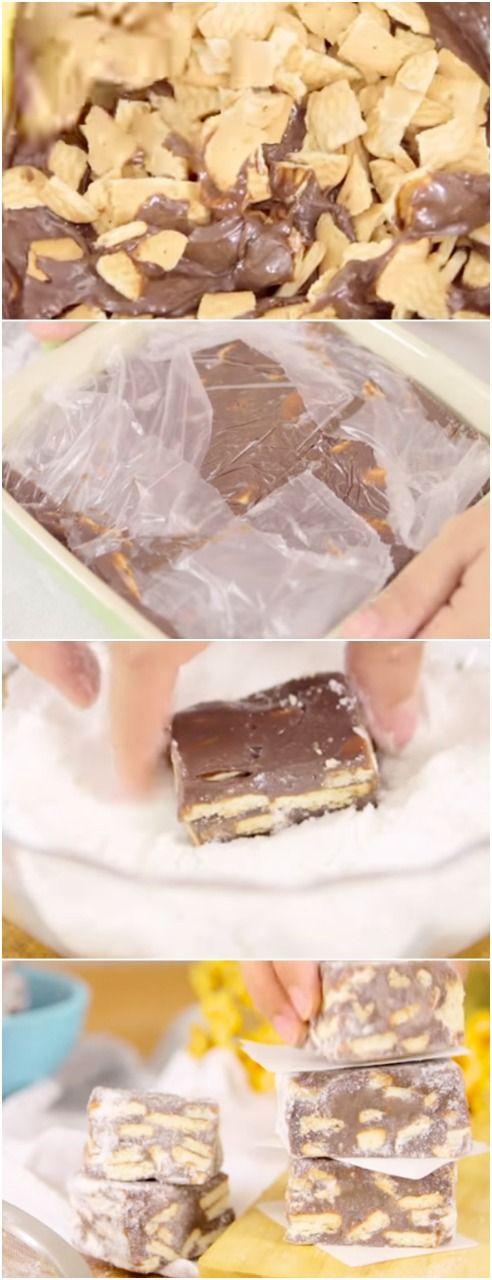 Palha Italina MEGA GOSTOSA, CONFIRA #palhaitaliana #doce #doces #chocolate #chocolates