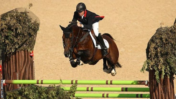 Nick Skelton jumping to gold for TeamGB on Big Star at Rio 2016